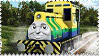 Raul the Brazilan Engine Stamp by BlueEngineLiz6