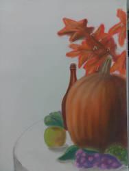 Pumpkin Still Life  by Nuwer-Designs