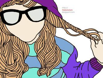Me in glasses by taqiyayaya