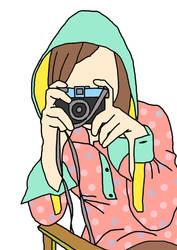 girl and camera by taqiyayaya