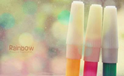 They are rainbow marker by taqiyayaya