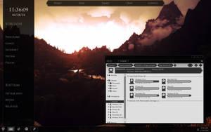 Skyrim Windows theme preview by yorgash