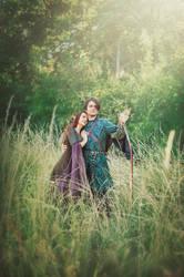 wood elves elven costumes by Ryzhervind