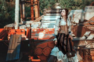 Steampunk girl by Ryzhervind