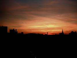 Sunrise from my balcony by Thanat05