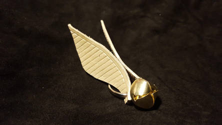golden snitch bell keychain by PracticalApplication
