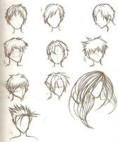 Hair Sketches by ajbluesox