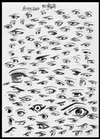 Anime Eyes Practice by ajbluesox