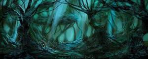 forest by landobaldur