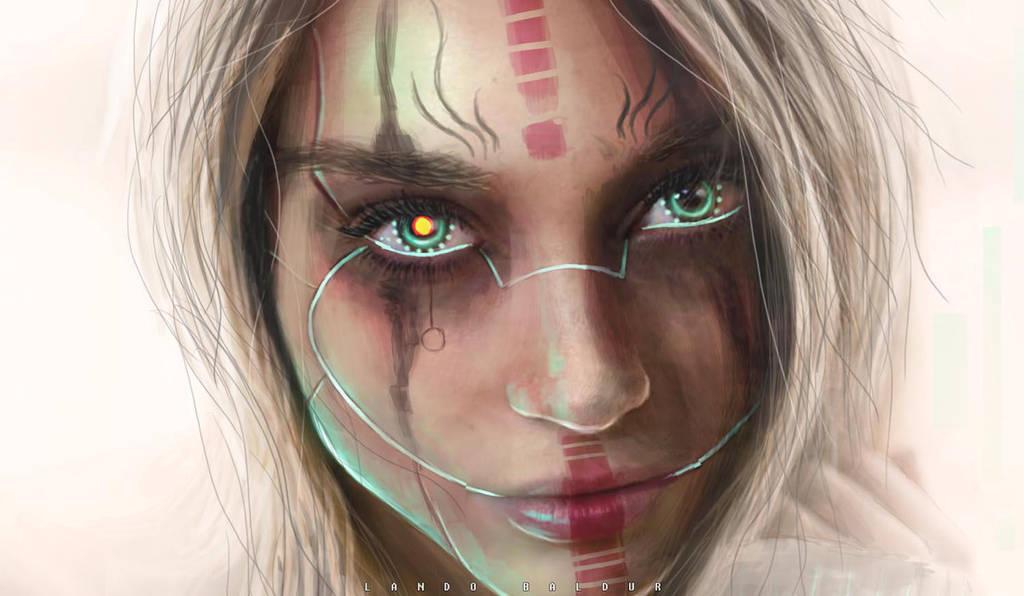female robot by landobaldur