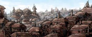 rooftop city by landobaldur