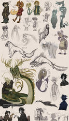 NEW Graveyard Book Sketches by roseandthorn