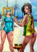 R. Mika and Laura summer costumes by GGG85