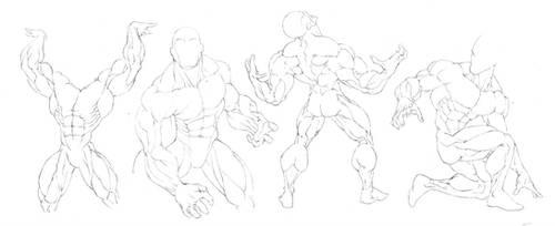 Anatomy Study: Big Swole by GavinMichelli