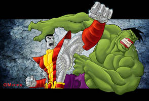 Colossus vs Hulk by GavinMichelli