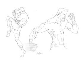 Figure Study:Muay Thai Fighter by GavinMichelli