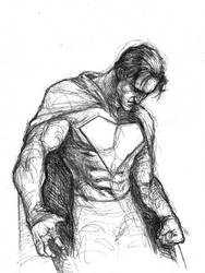 Superman Ballpoint Sketch by GavinMichelli
