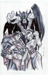 Justice League of Eternia by GavinMichelli