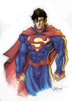 New 52 Superman in color by GavinMichelli