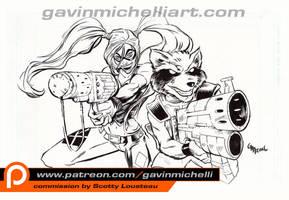 Harley and Rocket by GavinMichelli
