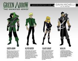 Green Arrow Animated Designs by GavinMichelli