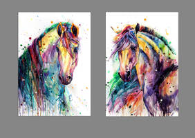 rainbow horses by ElenaShved
