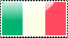 Flag of Italy Stamp by xxstamps