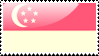 Flag of Singapore Stamp by xxstamps