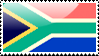 Flag of South Africa Stamp by xxstamps