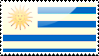 Flag of Uruguay Stamp by xxstamps