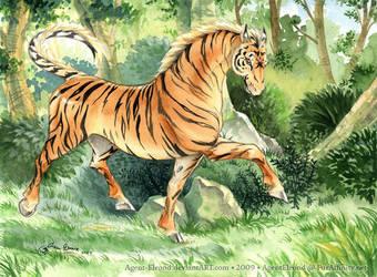 Tiger-horse by GoldeenHerself