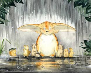 Furry Umbrella by GoldeenHerself