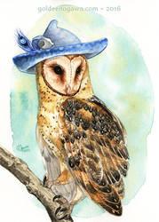Strange Barn Owl by GoldeenHerself