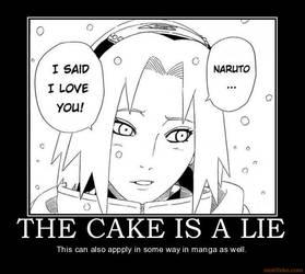 Naruto: The Cake is A Lie by Firingwall