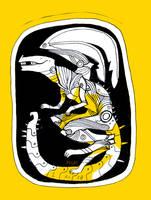 Yellow Mechagojira by xulm