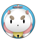 Puppycat Pin by BrittanysDesigns