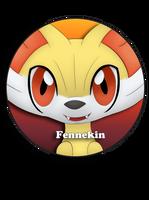 Fennekin Pin by BrittanysDesigns