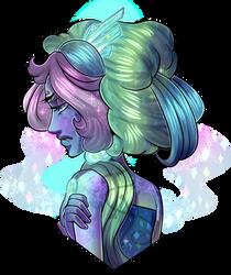 Glorious-Hair Fluorite [Request] by Fyurama