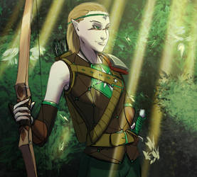 Cal elven Cleric by otakutaylor