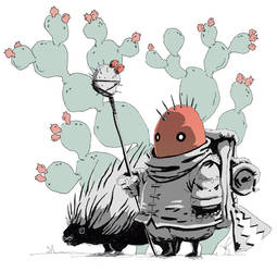 the pickly pear poacher and his pet porcupine by raps0n