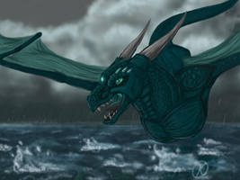 Storm Dragon by Katolin
