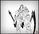 Darksiders II - Death BW by MastaHicks