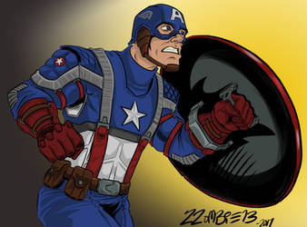 Captain America Drawing by ZZoMBiEXIII