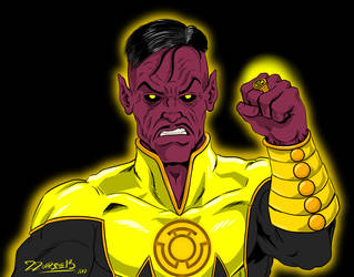 Uncle Ethan said we MUST draw Sinestro by ZZoMBiEXIII