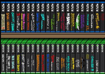 Games Shelf by ZZoMBiEXIII