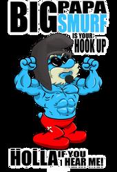 Big Poppa Smurf by ZZoMBiEXIII