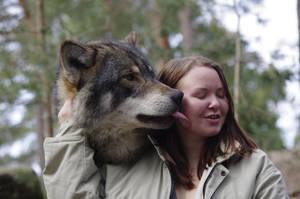 wolf kiss by Pschokid