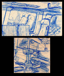 Sketches from train by ChristopherDeer