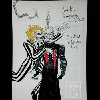 Beetlejuice vs Pinhead by What-the-Gaff