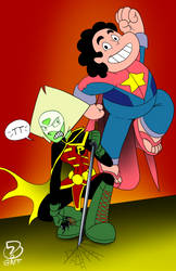StevenAndPeridot by What-the-Gaff